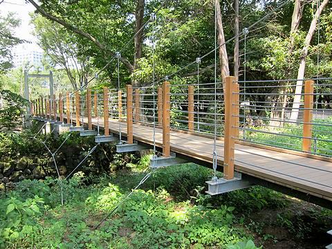 東京都内激アツ天サロスポット砧公園の吊り橋